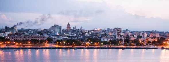 Havana skyline at dusk