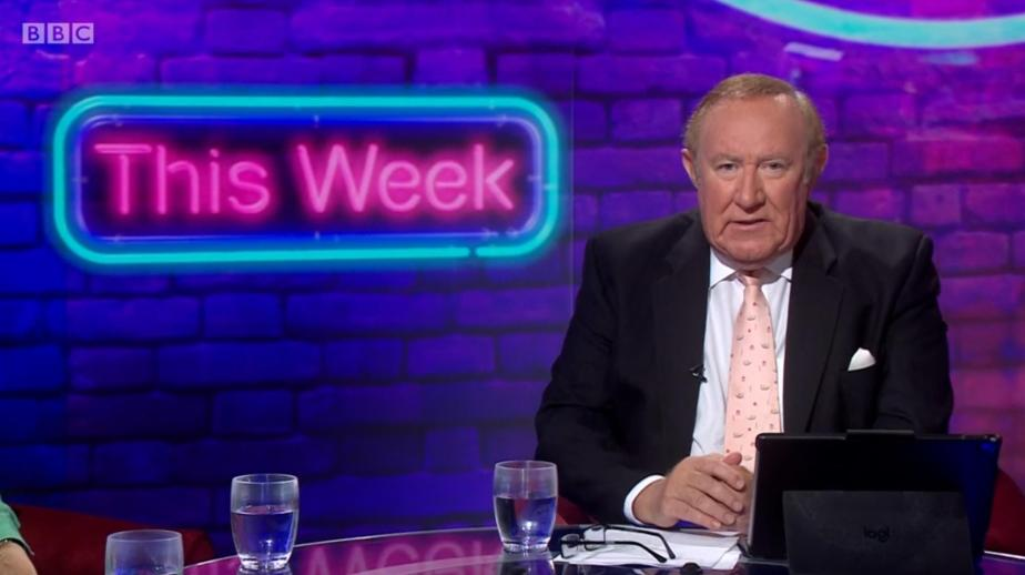 Andrew Neil rubbishes scientific consensus in first minutes of This Week